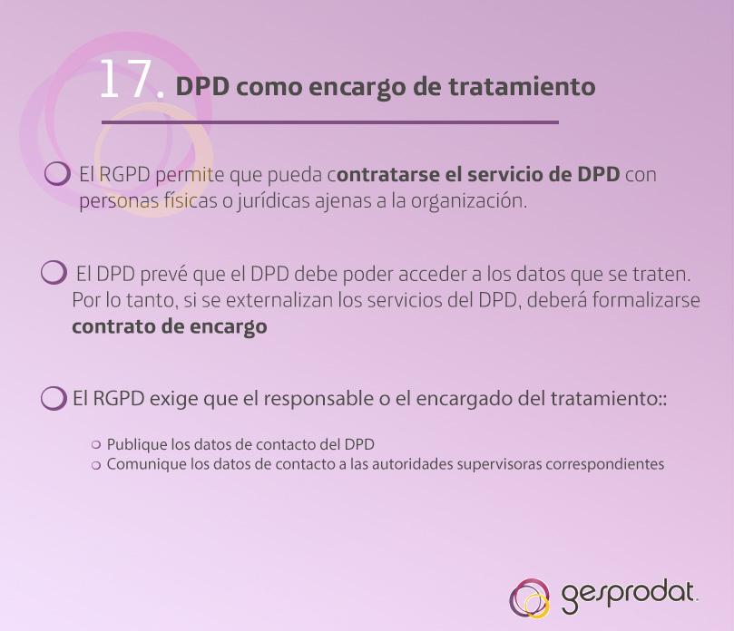 Ficha 17 La figura del Delegado de Protección de Datos cómo encargado
