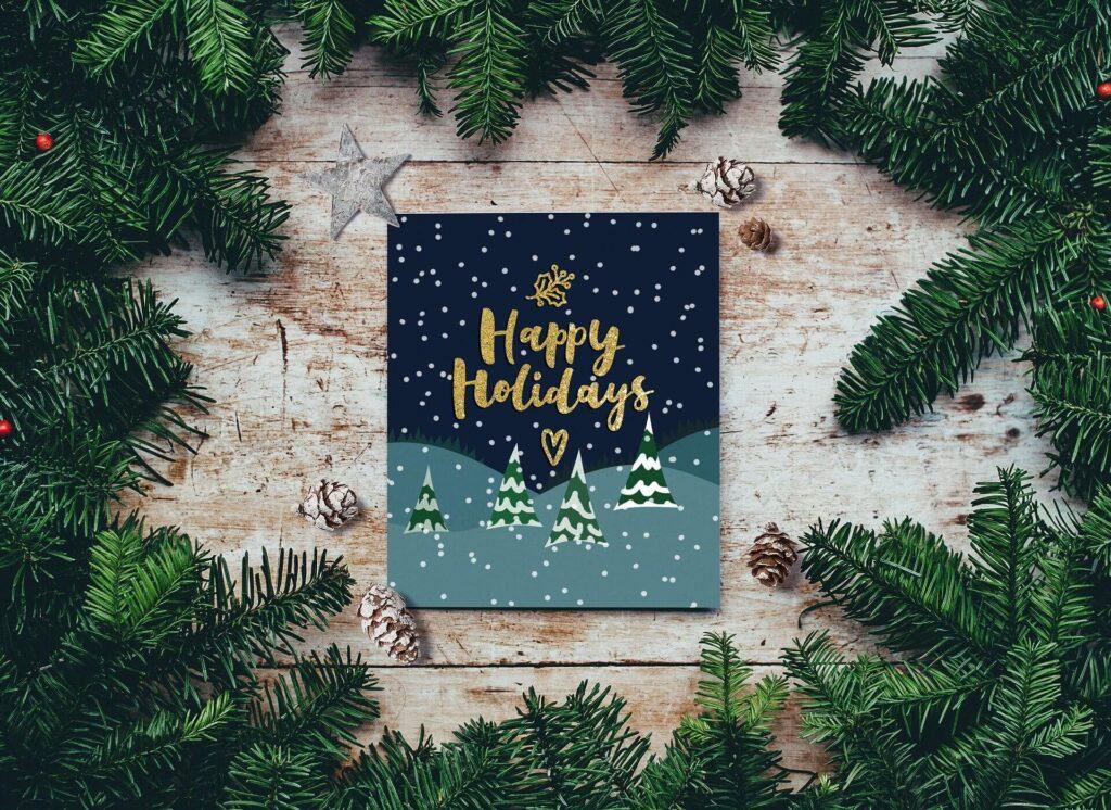 felicitaciones de Navidad siguiendo el RGPD